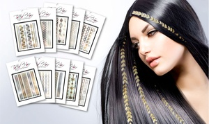 Tatted Hair Set of 10 Designer Hair Tattoos: Tatted Hair Set of 10 Designer Hair Tattoos