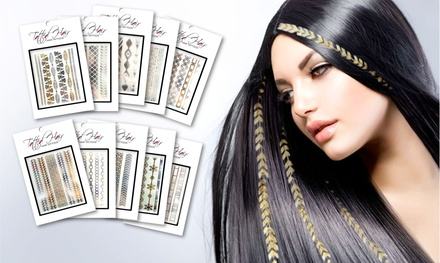 Tatted Hair Set of 10 Designer Hair Tattoos