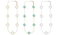 GROUPON: Long Quatrefoil Fashion Necklace Long Quatrefoil Fashion Necklace