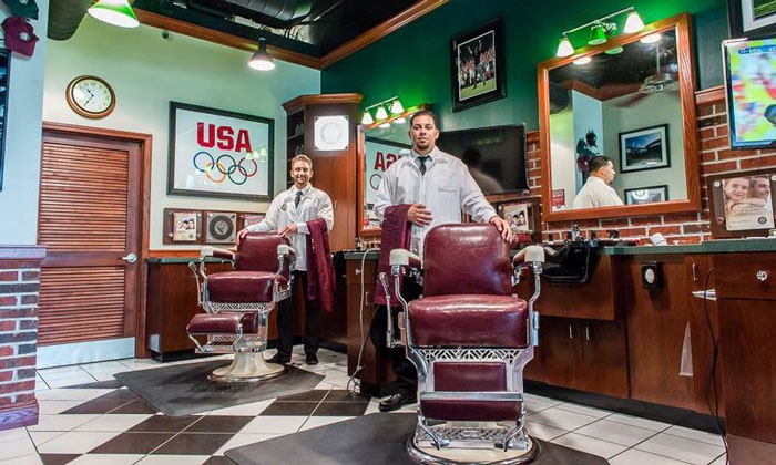 V's Barbershop - Laguna Hills: Haircut and Shampoo, with Options to add a Shave, Facial, and Massage at V's Barbershop (Up to 51% Off)