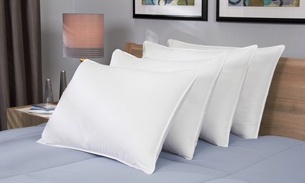 Spring Air Down-Alternative Bed Pillows with 300-Thread-Count 100% Cotton Shells (4-Pack)