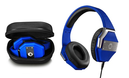 BKHC BK9 Studio-Style Adjustable Hi-Fi Headphones with Ambient Noise Reduction and Hard Protective Carry Case