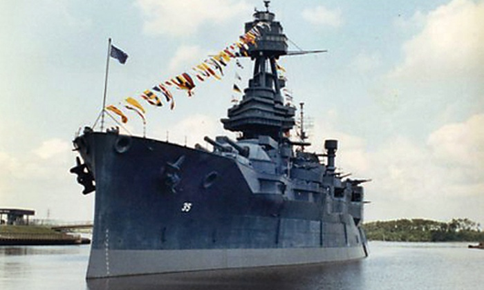 Battleship Texas - Houston: Self-Guided Tour of WWI-Era Battleship for Two, Four, or Six at Battleship Texas (Half Off)