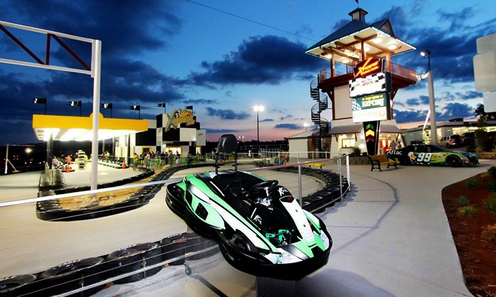Xtreme Racing Center - Branson: Triple Threat, Xtreme, or Junior Go-Kart Package at Xtreme Racing Center Branson (Up to 44% Off)
