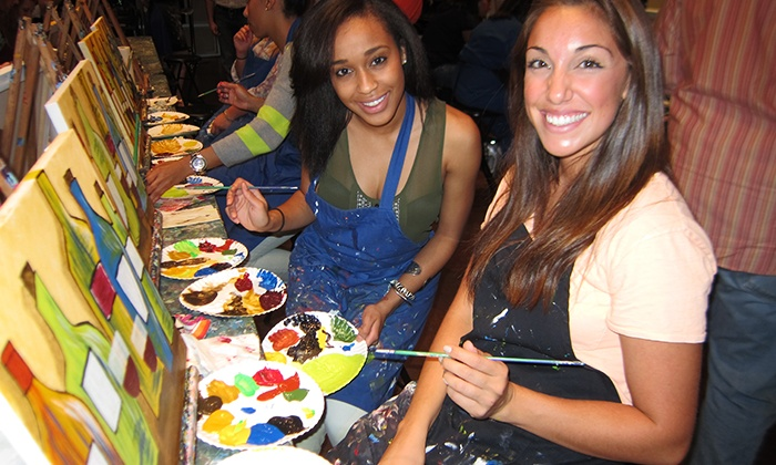 Pinot's Palette - West Omaha: Two- or Three-Hour Paint and Sip Art Class for Two People at Pinot's Palette (Half Off)