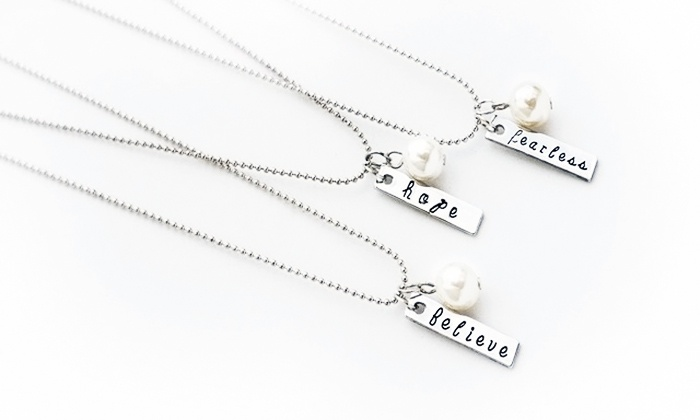 Stamp the Moment: One or Two Hand-Stamped Necklaces from Stamp the Moment (Up to 77% Off)