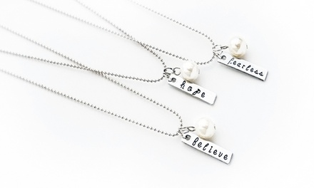 One or Two Hand-Stamped Necklaces from Stamp the Moment (Up to 77% Off)