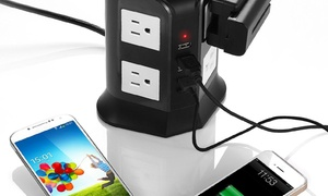 8-outlet Power Strip With 4 Usb Ports