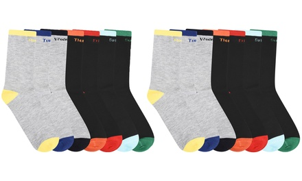 Seven £3.98 or Fourteen £6.98 Pairs of Monday to Sunday Men's Socks