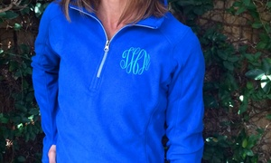 Embellish Accessories and Gifts: Monogrammed Fleece Pullovers from Embellish Accessories and Gifts (Up to 53% Off)