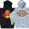 Men's Football Hooded Sweatshirts