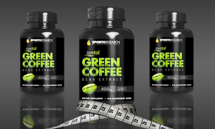 Green-Coffee-Bean Extract with Svetol: One, Two, or Three 90-Count Bottles of Green-Coffee-Bean Extract with Svetol (Up to 72% Off)