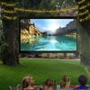 """Favi Home or Portable LED Projector with 100"""" Screen"""