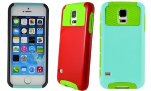 Hybrid Hard-Shell Case for iPhone 4/4s, 5/5s, 5c, 6, or Galaxy S5: Hybrid Hard-Shell Case for Apple iPhone 4/4s, 5/5s, 5c, 6, or Samsung Galaxy S5 from $4.99–$6.99