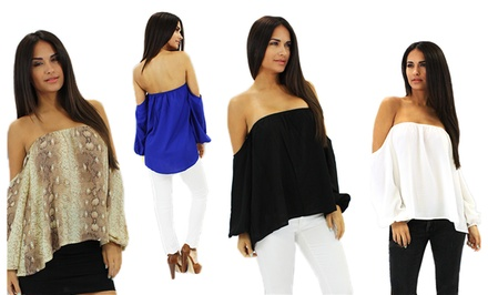 OhConcept Women's Off the Shoulder Top. Four Colors Available. Free Returns.