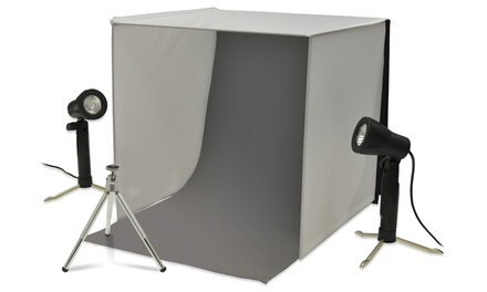 Cube Tabletop Studio Photography Tent with Lighting Kit and Tripod
