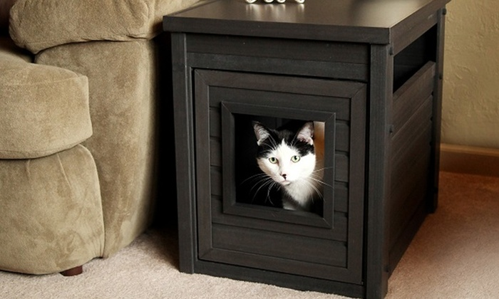 Cat Tower With Built In Litter Box