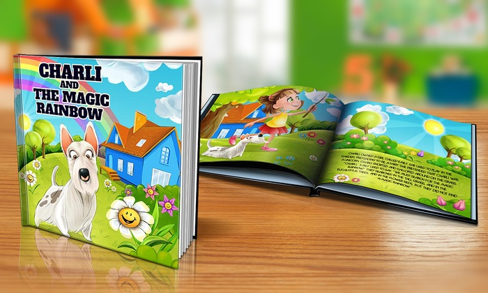 "Dinkleboo: $9 or $14 for Softcover or Hardcover ""The Magic Rainbow"" Personalized Kids Book from Dinkleboo (Up to 65% Off)"