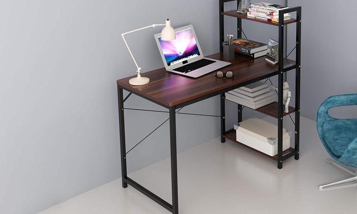 Four-Tier Shelved Computer Workstation Desk