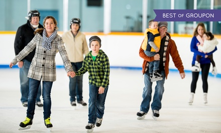 Ice Skating for Two or Four with Skate Rental from Park District of Highland Park (Up to 56% Off)