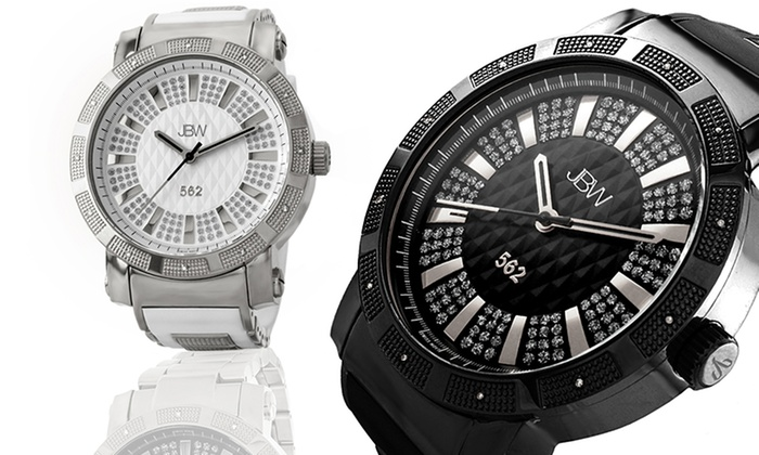 JBW 562 Men's Diamond Watches: JBW 562 Men's Diamond Watch. Multiple Colours Available.