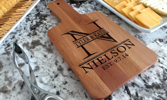 American Laser Crafts: One or Two Personalized Serving Boards from American Laser Crafts (Up to 54% Off)