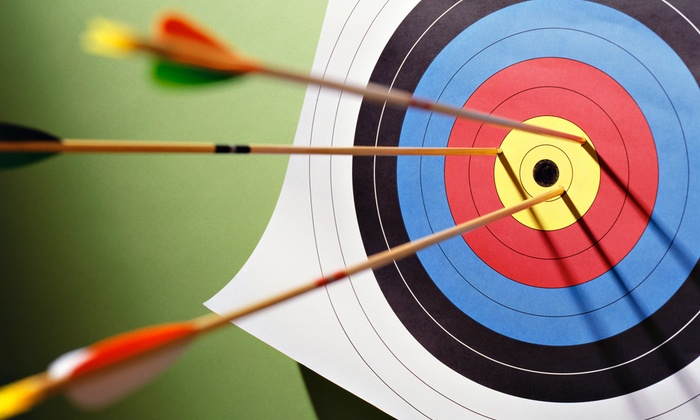 arrows and target for archery