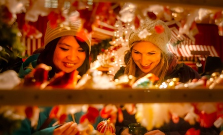 Admission for Two with Optional Carousel Rides and Cider at Vancouver Christmas Market (Up to 37% Off)