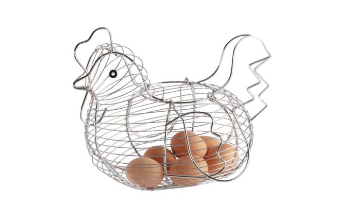 Cestino per uova a forma di gallina