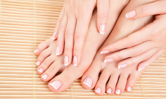 Topliner Beauty Salon - Uptown: One or Two Spa Manicures and Pedicures at Topliner Beauty Salon (Up to 55% Off)