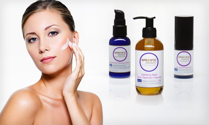 Specific Beauty Skin-Brightening Regimen: $19.99 for a Three-Piece Specific Beauty Skin-Brightening Regimen ($63.97 List Price). Free Shipping.