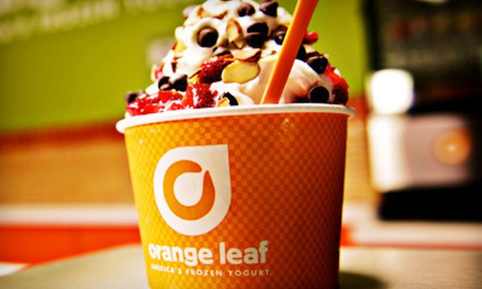 Orange Leaf Frozen Yogurt - Multiple Locations: Frozen Yogurt at Orange Leaf Frozen Yogurt (Half Off). Two Options Available.