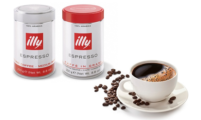 Six Tins Of Illy Coffee Groupon Goods