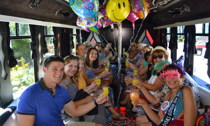 Uncorked Tours: Three- or Five-Hour Party-Bus Rental for Up to 25 from Uncorked Tours (55% Off)