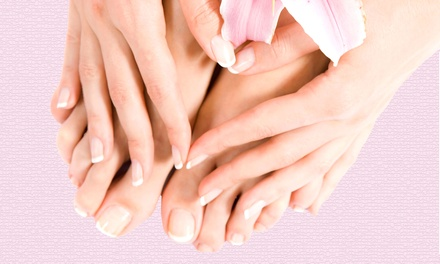 Regular or Spa Mani-Pedi at Salon Amarti (Up to 53% Off)