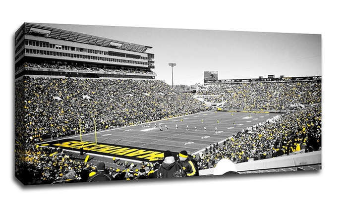 """Iowa Hawkeyes College Football Touch Of Color 40/"""" x 22/"""" Canvas"""