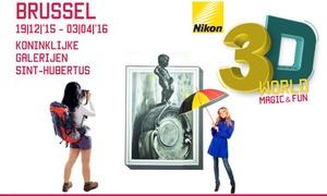 3D World Magic & Fun Brussel: Accès pour 1 personne à partir de 12 ans au 3D World Magic & Fun Bruxelles