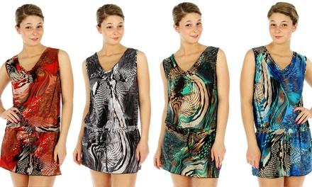 4-Pack of Women's Snakeskin-Print Mini Dresses