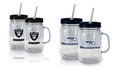2-Pack of NFL Straw Tumblers