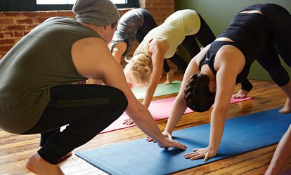 image for C$36 for One Month of Unlimited <strong>Yoga</strong> at Moksha <strong>Yoga</strong> Burnaby (C$140 Value)