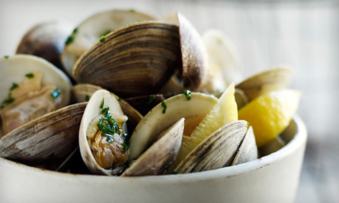 The New England Moorings - Hancock: $12 for $25 Worth of Seafood at The New England Moorings