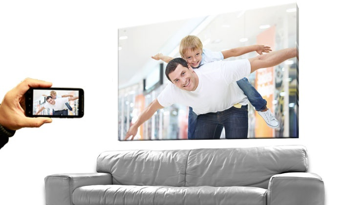 """Inkdoodle: One or Two 16""""x20"""" or 20""""x24"""" Photo-to-Canvas Prints from Inkdoodle (Up to 80% Off)"""