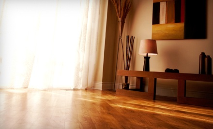 Sanding, Staining, and Refinishing for up to 200 Square Feet of Hardwood Flooring - Pure Fabric & Floor Care in