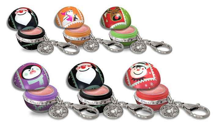 Twist and Pout Holiday Lip-Balm Trio with Gem Clips: Twist and Pout Holiday Lip-Balm Trio with Gem Clips