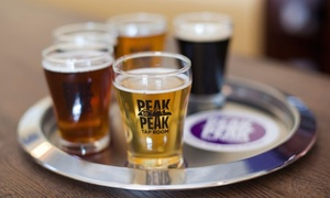 Peak To Peak Tap Room: Craft Beer Tasting for Two or Two Pints of Beer with a T-Shirt at Peak To Peak Tap Room (Up to 44% Off)