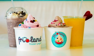 $12 For Four Groupons, Each Good For $6 Worth Of Frozen Yogurt And Smoothies At Frioland ($24 Value)
