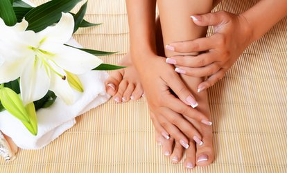 image for Gel Manicure, Spa Pedicure, or Gel Manicure and Spa Pedicure at Forever Young Skin And Hair Spa (Up to 57% Off)