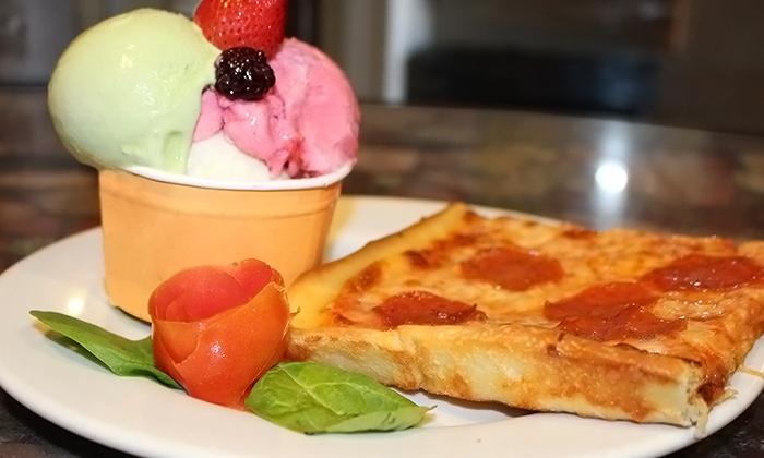 Il Gelato Caffe - Newport Pier: $8 for $12 Worth of Pizza and Gelato at Il Gelato Caffe