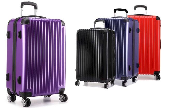 1e0b5b9dc Kono Hard-Shell Suitcases | Groupon Goods