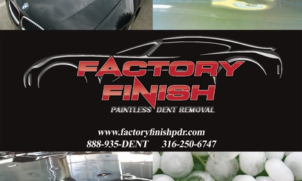 $25 for $500 Worth of Hail Damage Repair at Factory Finish PDR Inc